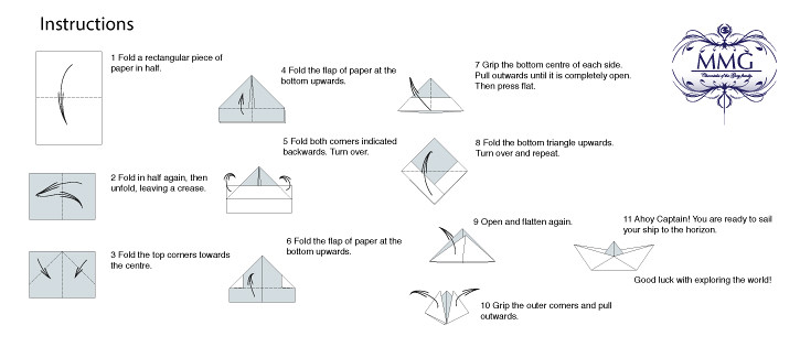 fold paper boat Step 1 lay out the paper and fold lay the paper on a flat surface fold the paper in half lengthwise use paper larger than the standard 85- by 11-inch size for a.