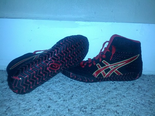 Black And Red Asics Wrestling Shoes Red/black/gold Asic