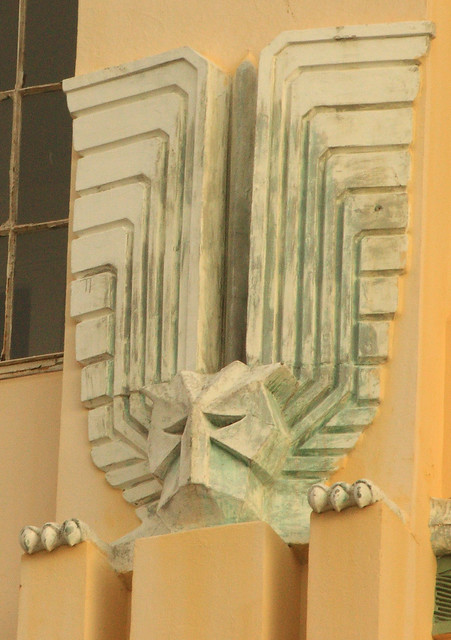 Architectural detail of art deco building durban flickr for Art deco architectural details