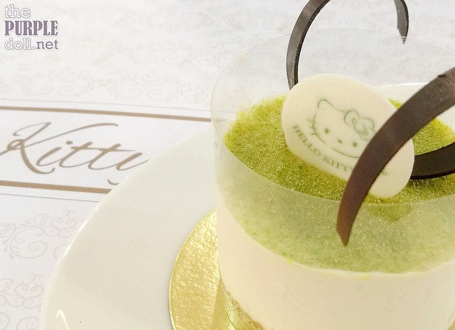 Hello Kitty Green Tea Cheesecake