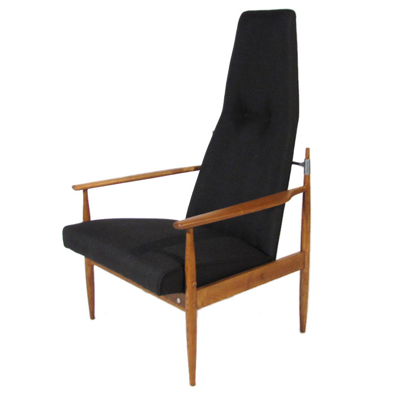 ... Mid Century Jens Quistgaard Style High Back Chair | By Orions Objects