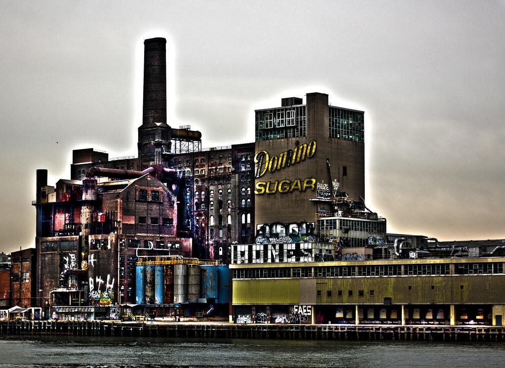 Abandoned Domino sugar factory, Williamsburg, Brooklyn