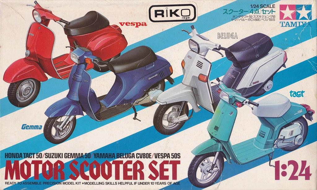 Honda Tact 50, Suzuki Gemma 50, Yamaha Beluga CV80E, Vespa… | Flickr