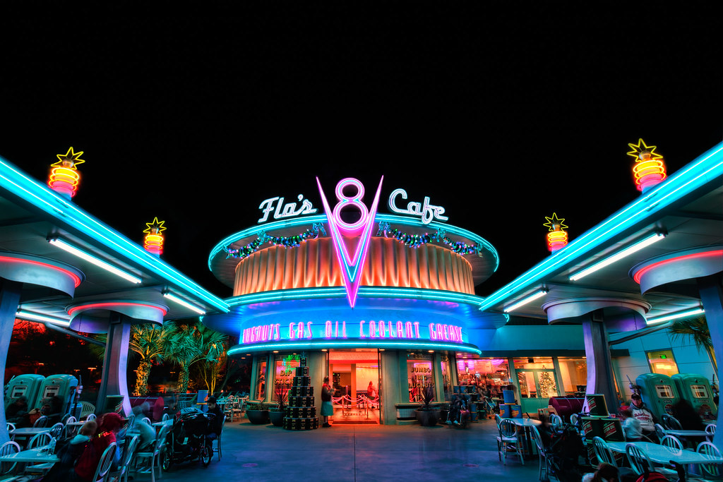 Flos V8 Cafe Disney California Adventure During The