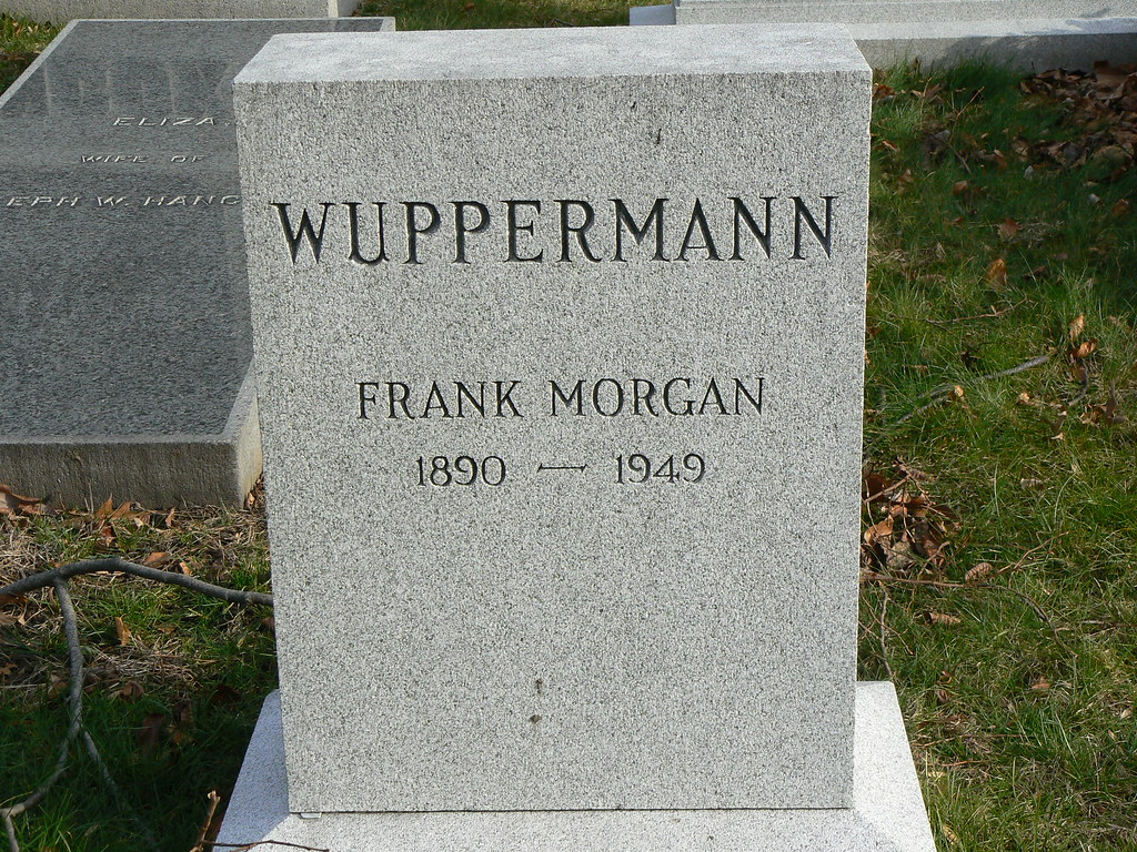 Famous Grave Frank Morgan Grave Green Wood Cemetery