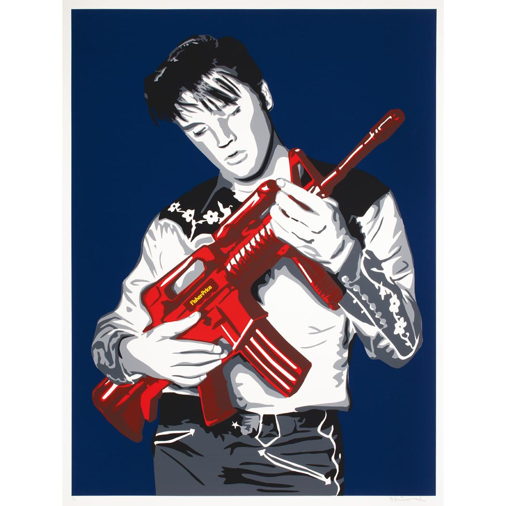 Mr brainwash in the doyle street art auction april 8 for Mural painted by street artist mr brainwash