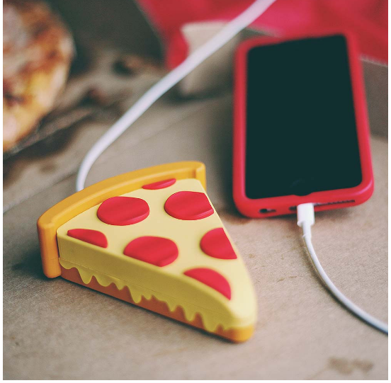 pizza phone charger