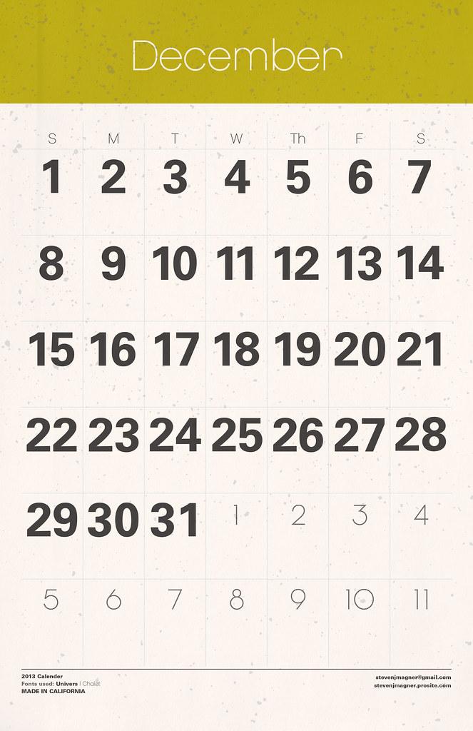Big Calendar December 2013 Looking For A Big Calender W Flickr