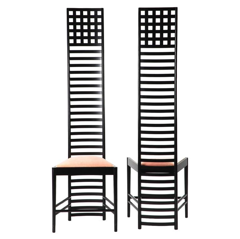 Pair Charles Rennie Mackintosh Hill House Chairs Www