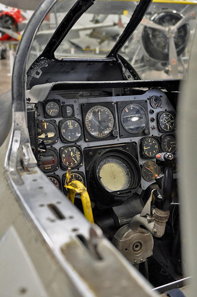 Cockpit Instrument Panel : F d l sabre cockpit instrument panel unknown
