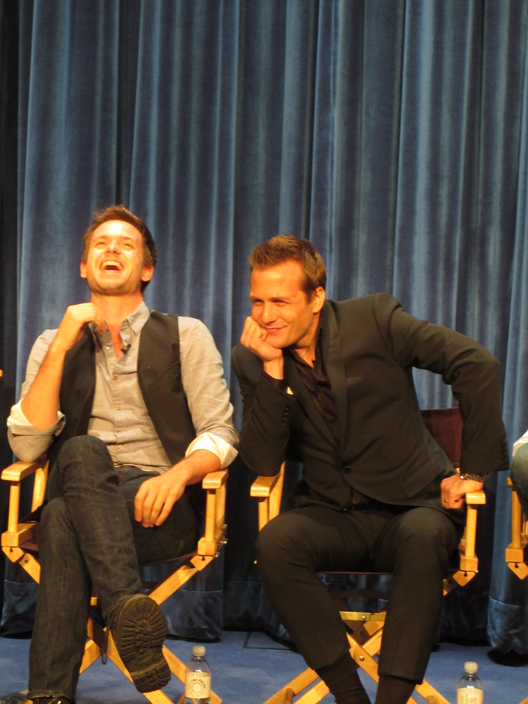 Patrick J Adams And Gabriel Macht Suits Panel At The