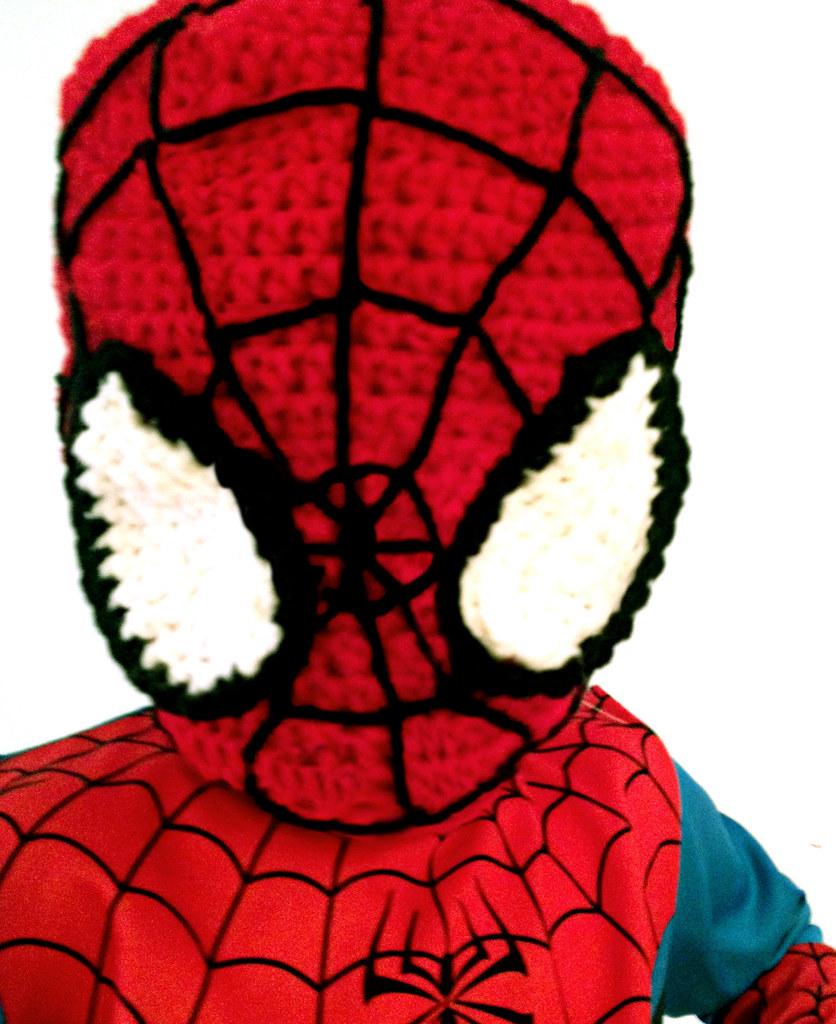 Crochet Kids Spiderman Mask Hat Blogged Mellieblossom Flickr