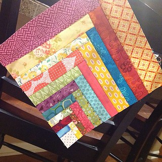 Scapper's delight block from Sunday Morning Quilts for jyllybean for our quilt bee. | by Jenniffier