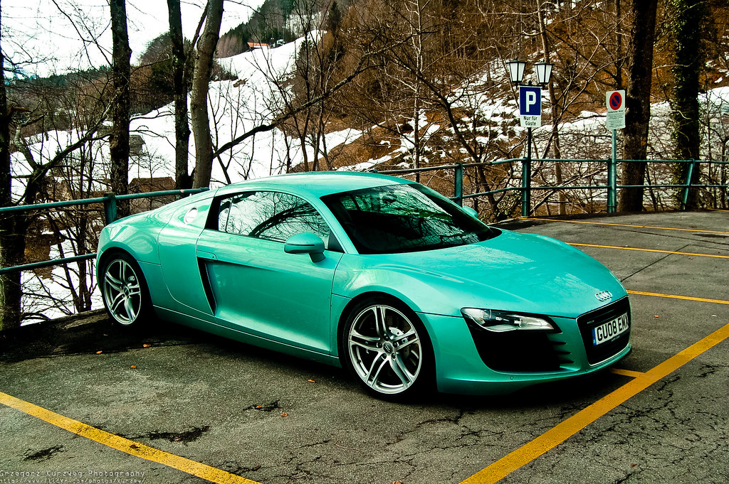 Turquoise Audi R8 In Swiss Alps Photo Taken In Brienz