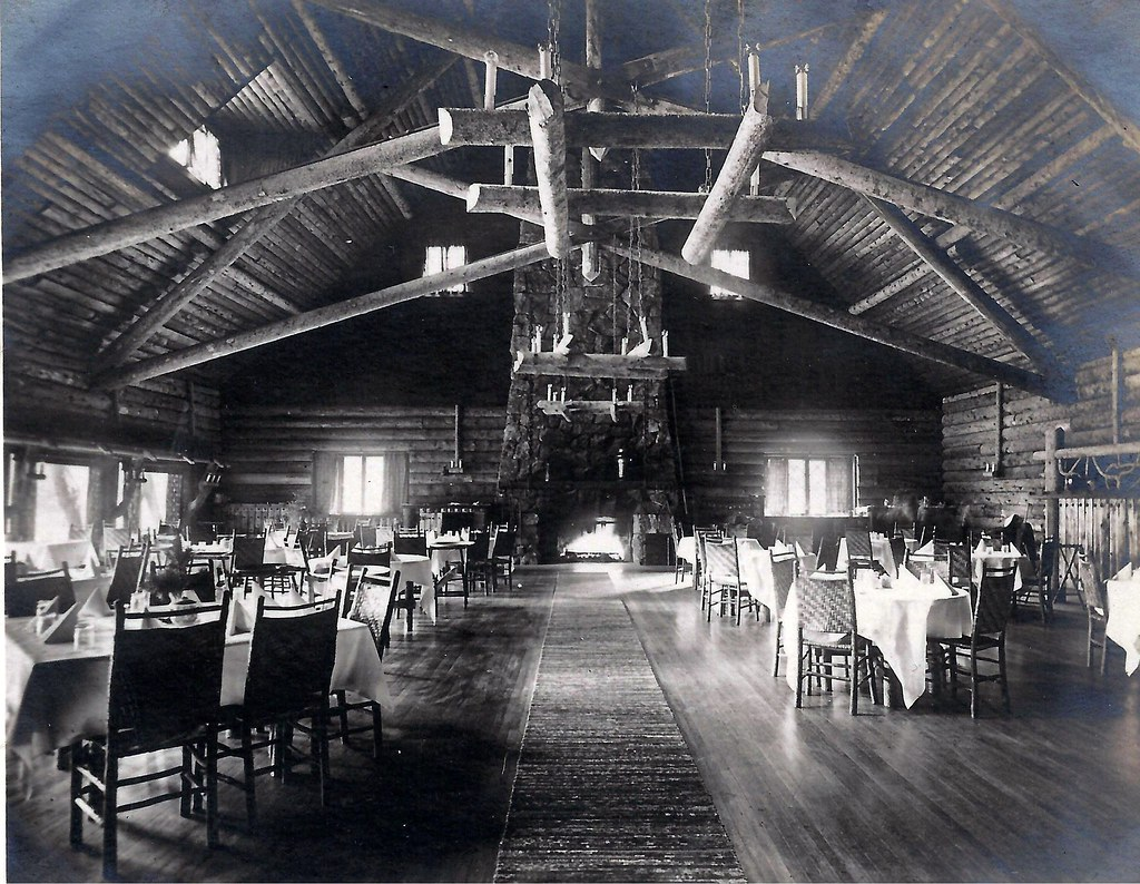 yellowstone national park, old faithful inn, dining room | flickr