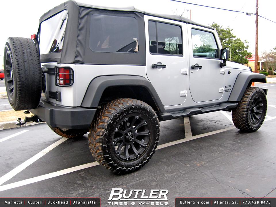Jeep Wrangler With 20in Black Rhino Sidewinder Wheels Flickr
