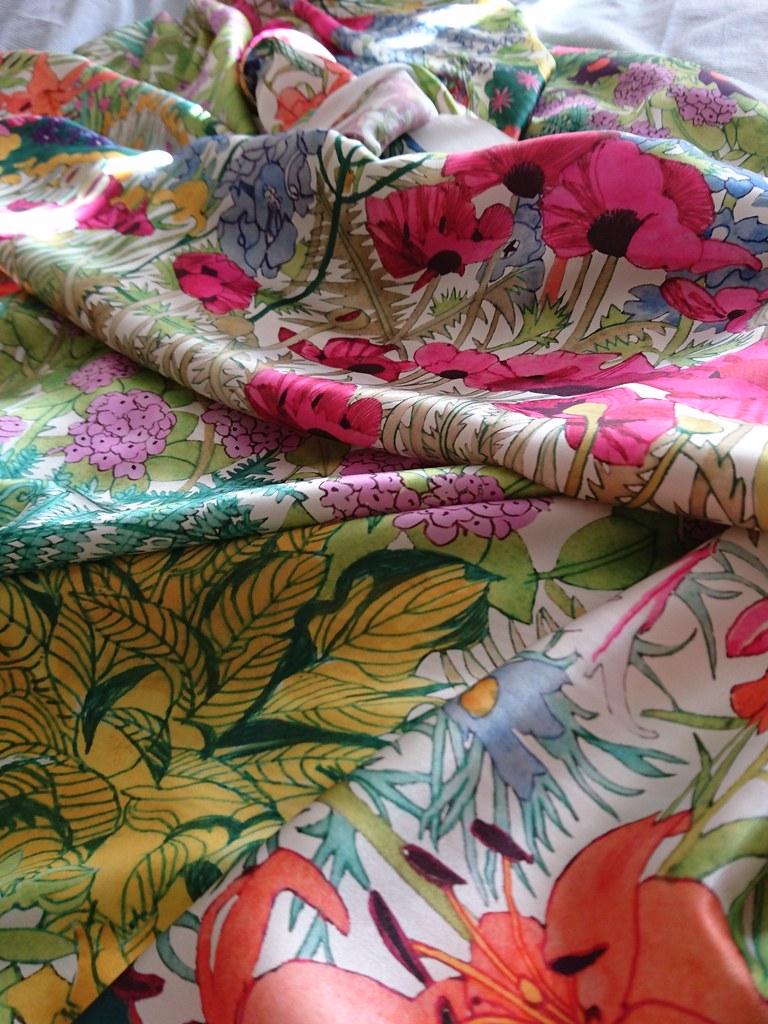 Liberty Silk Anna's Garden