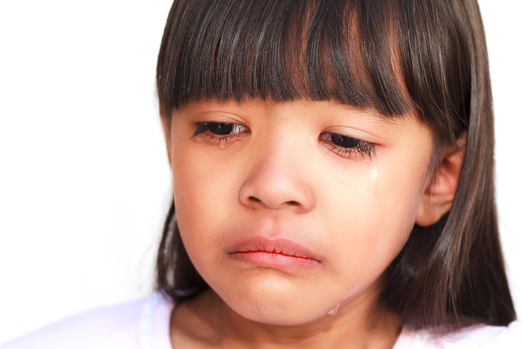 little girl crying with tears rolling down her cheeks flickr