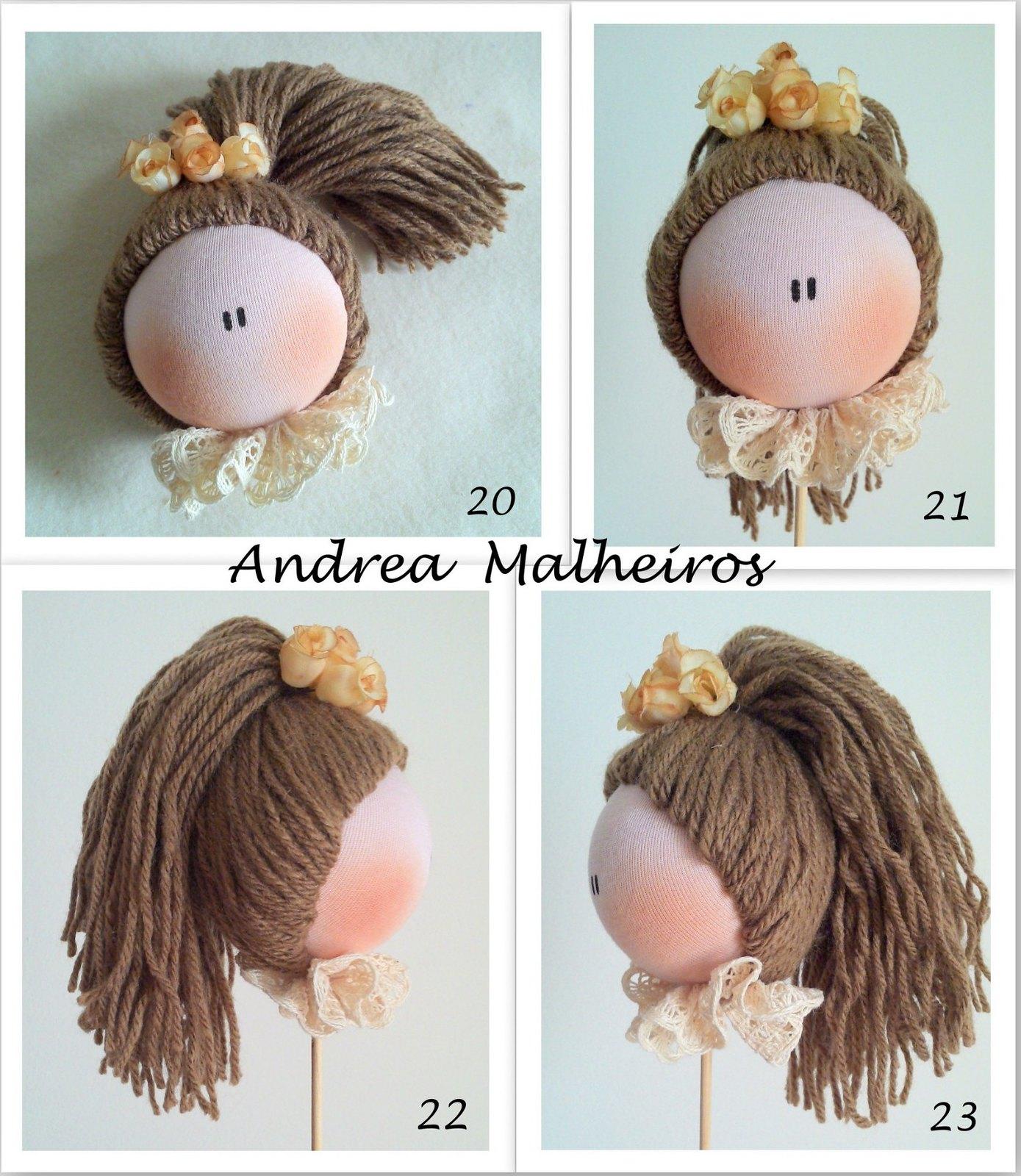 Как сделать волосы кукле из ниток фото