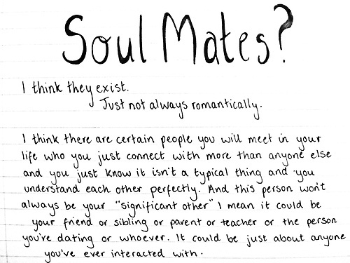 Soul Mates? I Think They Exist. Just Not