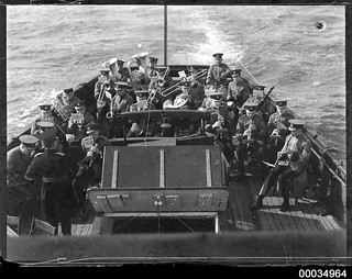 ABC Military Band playing with ABC commentator on a vessel, 1933-1951 | by Australian National Maritime Museum on The Commons