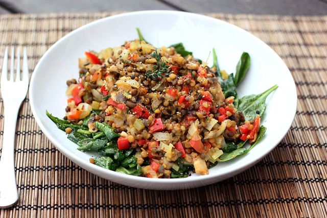 Spring Cleanse: Warm Lentil Salad - Gluten-free + Vegan