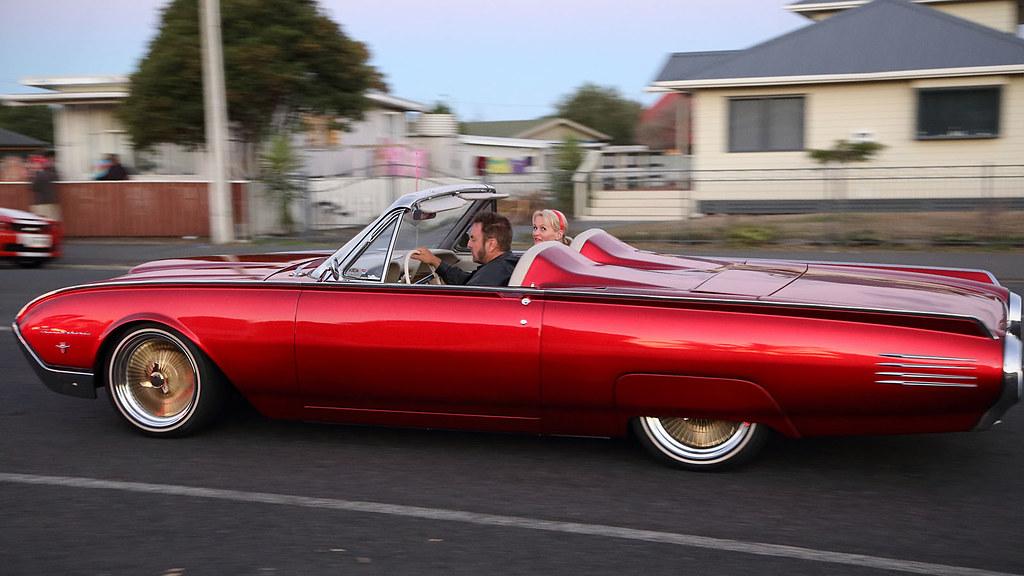 1961 Ford Thunderbird Convertible Cruising At Dusk