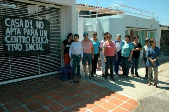 Ante posible apertura de preescolar en la urbanización Los Mangos en Puerto Ordaz, los vecinos protestan