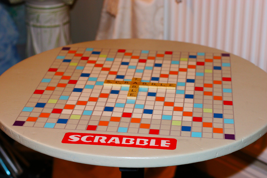 Scrabble Table | By Mat Robertshaw Scrabble Table | By Mat Robertshaw