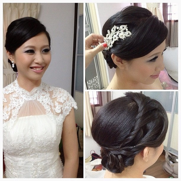 Simple Makeup For Wedding Dinner : Today wedding day dinner makeup and hairdo for my happy brid ...