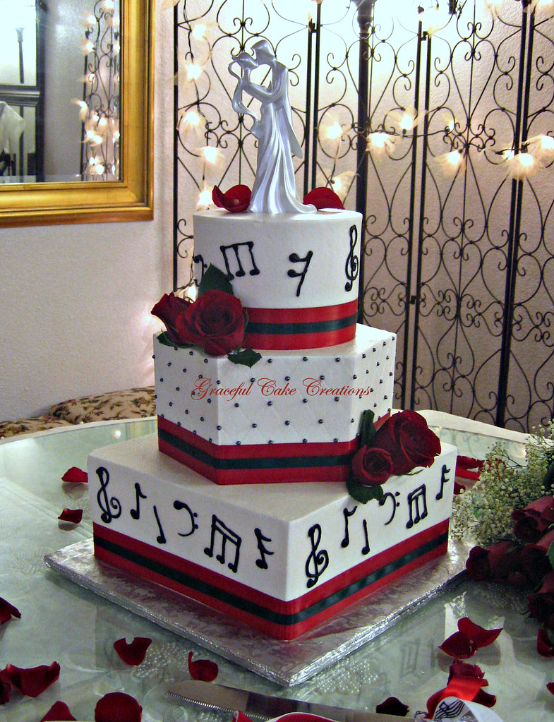 Musical Notes Wedding Cake | Grace Tari | Flickr