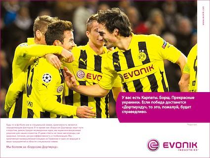 Evonik Anzeige Zum Champions League Spiel Von Borussia Dor