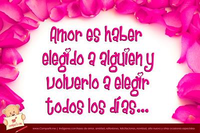 Frases de amor con pétalos de rosas color fucsia   Ver ima ...