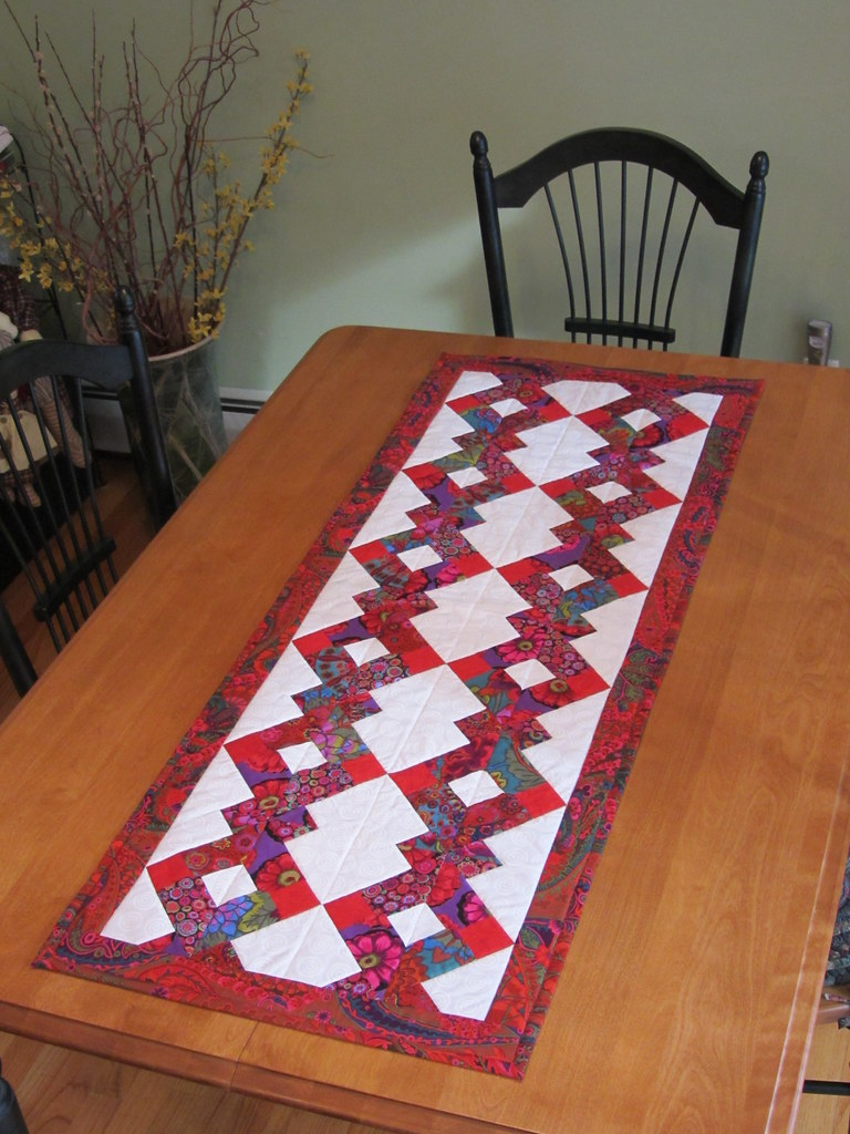 Disappearing Nine Patch Table Runner Sue Michaels Flickr