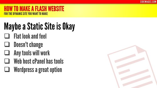 How to Make a Flash Website - PowerPoint Slide #2 | by SideWages