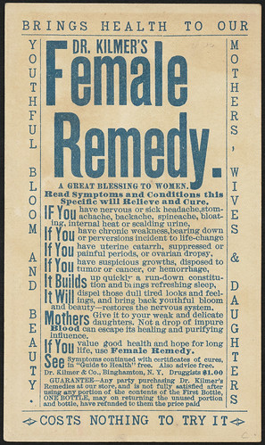 Dr. Kilmer's Female Remedy. (back) | File name: 10_03 ...