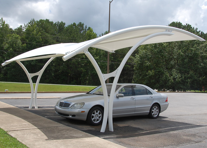 car parking under a shade