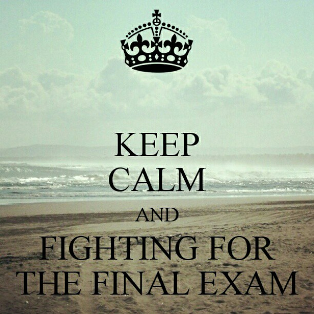 keep calm and fighting for the final exam poster quotes