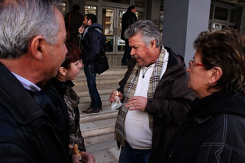Representatives of the village of Ierissos after their meeting with police and local authorities | by Teacher Dude's BBQ