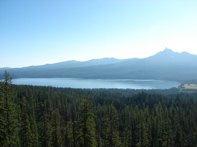 Diamond Lake with Tipsoo Butte, Howlock Mountain, and Mt. Thielsen