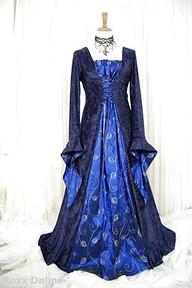 Medieval fashion erica morgan flickr for Blue irish wedding dress