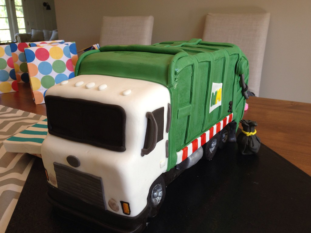 Garbage Truck Birthday Cake I Was Asked To Make A