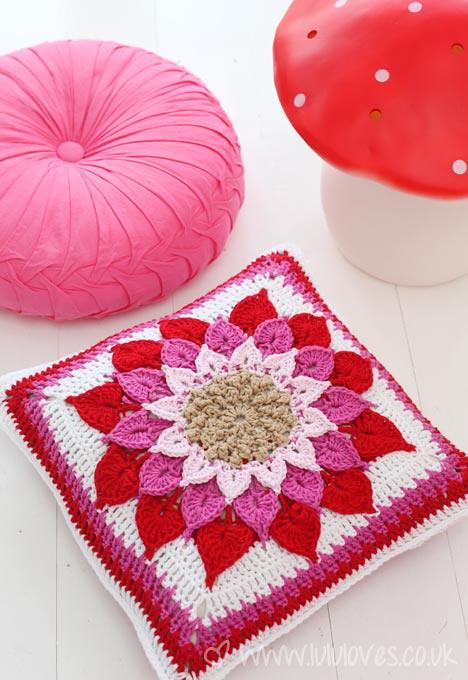 Crochet Crocodile Flower Cushion Pattern By Joyce Lewis Flickr