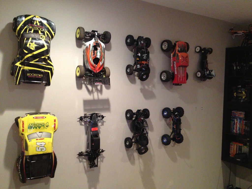 Rc Wall Mount Clean Way To Hang My Rc Cars On The Wall