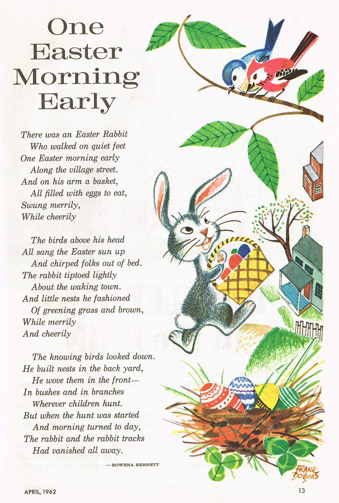 One Easter Morning Early | illustration by Frank Dobias ...