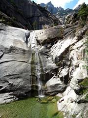1ère cascade de 40m de la Purcaraccia