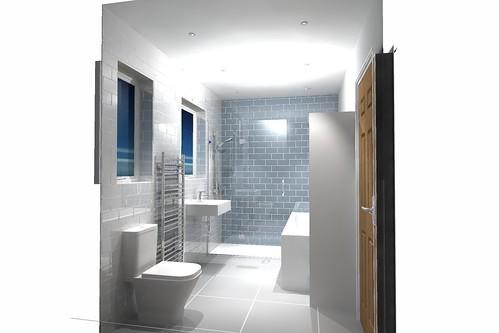 Shower Bathroom Leeds Metro Brick Styled Design With Gla Flickr