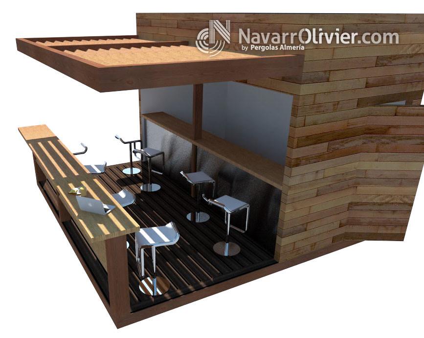 Infografia chiringuito de playa chiringuito desmontable for Kioscos de madera baratos