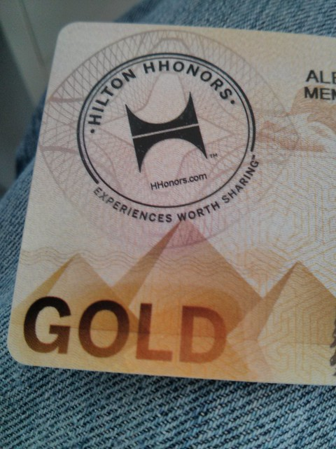 Hilton HHonors Gold | Physical cards are weird, especially ...