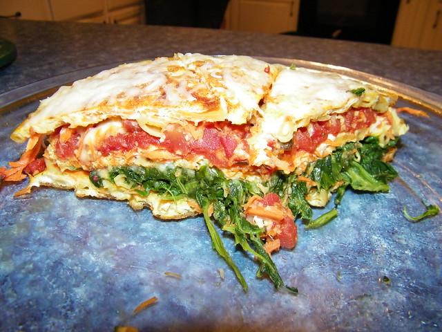 Veggie Pasta Pie | This was AMAZING! Recipe found here: cor ...